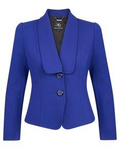 Anthea Crawford Cobalt Stretch Ponti Tailored Jacket