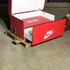 Jordan Shoe Box Storage, Giant Shoe Box Storage, Closet Shoe Storage, Storage Boxes, Sneaker Storage, Shoe Room, Walk In Closet Design, Swag Shoes, Sneaker Art