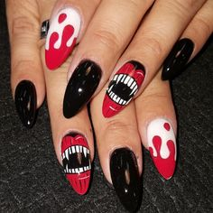 15 over the top halloween nail designs for die hard halloween fans vampires by oli123 from nail art gallery prinsesfo Choice Image