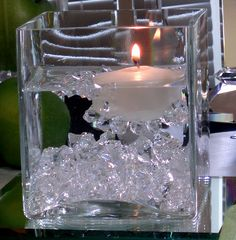"love this ""centerpiece"" idea -- fire and ice"