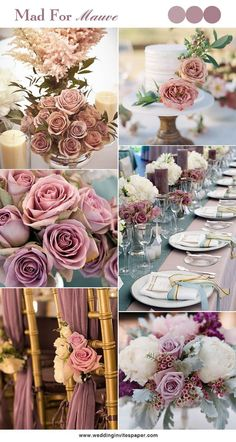 100 Hottest Mauve Wedding Decorations for Your Upcoming Day - Wedding Invites Paper shade of pink wedding decorations/ shade of purple wedding centerpieces/ floral spring wedding decorations #weddinginvitation #weddingdecoration