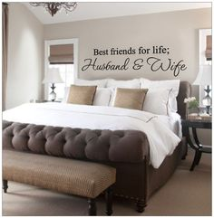Husband and Wife Best friends for life Wall by VinylDecorBoutique, $13.00