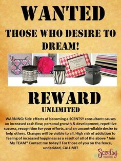 Independent Scentsy Family Consultant - AWESOME flyer; now watch me go be a copy cat and make one for Blessings! Lol