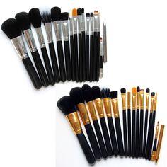 15 pcs Makeup Brushes Set Powder Foundation Eyeshadow Eyeliner Lip Brush Tool Cosmetic Brush Shop HB88