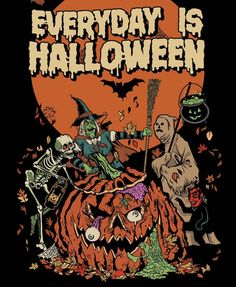 Today at youll be able to celebrate Halloween everyday with the rest of us freaks and ghouls when this design hits store! Halloween Horror, Spooky Halloween, Happy Halloween, Halloween Decorations, Halloween Costumes, Halloween Wallpaper Iphone, Fall Wallpaper, Arte Indie, Halloween Illustration