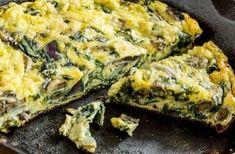 Crustless Spinach and Mushroom Quiche (Weight Watchers) – Pointskitchens