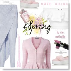 Cute Chick... by desert-belle on Polyvore featuring polyvore, fashion, style, Alexander McQueen, Baja East, KG Kurt Geiger, Topshop, Revlon and clothing
