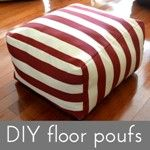 DIY floor poufs