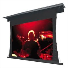 """PearlBrite Lectric IV Motorized Screen - 153"""" diagonal CinemaScope Screen by Vutec. $3733.99. 01-L4060-141PB Features: -Large diameter rigid ribbed aluminum roller featuring Vutec's FRS (Fabric Relief Step).-Standard 12'' black leader (custom lengths available).-Interfaces with low voltage relays, IR, RF and RS-232 remote controls.-Service door and trap door standard.-Plenum Rated - flush mount installation suitable for air handling spaces.-Flush Ceiling Mount..."""