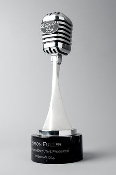 American Idol Trophy Design.