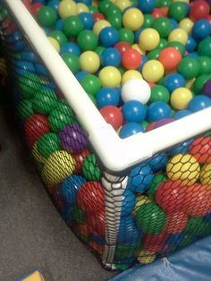 Homemade ball pit under $100 without the balls, and under 2 hours to make