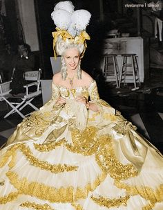 vivelareine:Anita Louise as the princesse de Lamballe in Marie Antoinette (1938) (Colorized)