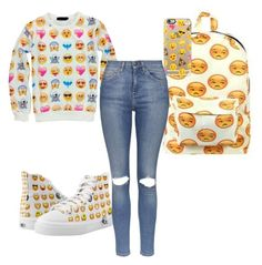 """emjis "" by mwheelwright on Polyvore featuring Casetify and Topshop"