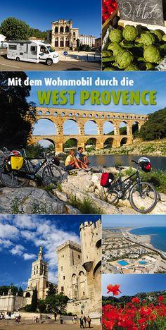Die Farben Des Südens: Quietschrote Mohnblumen und knallgelber Ginster, weiße Pferde und rosa Flamingos, Altertümer und Lebenskunst. Eine Tour durch die westliche Provence zeigt die bunte Palette #Südfrankreichs. #Wohnmobil