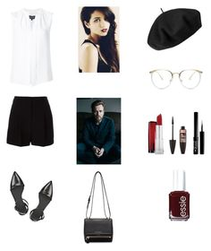 """""""Brunch with Father"""" by cherryflame14 ❤ liked on Polyvore featuring DKNY, Derek Lam, Alexander Wang, Maybelline, Essie, Betmar and Givenchy"""