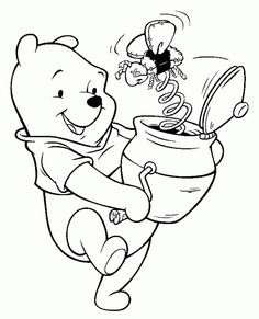 free printable winnie the pooh coloring pages for kids - Free Cartoon Coloring Pages