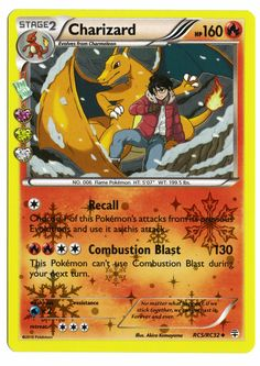 Pokemon Charizard Reverse Holographic Card