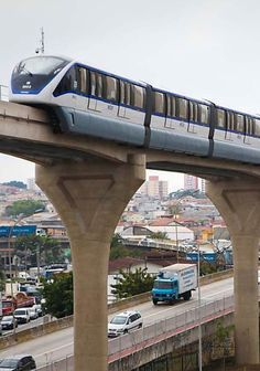 Monorail in São Paulo - Brazil Tramway, Beautiful Nature Pictures, Trains, Brazil Travel, Train Journey, Public Transport, South America, Touring, Around The Worlds