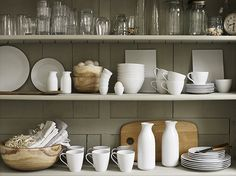 Absolutely love this display of kitchen necessities