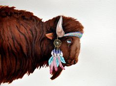 Some of Us Go with the Wind Buffalo Original by TheMontgomery