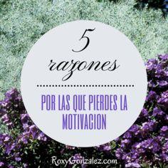 5 razones por las que pierdes la motivación