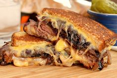 Grilled Cheese with Roast Beef and Caramelized Onions