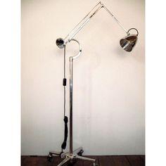 Hadrill & Horstmann Godalming Surrey 1950s Counterpoised Floor Trolley Light