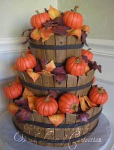 Beautiful Fall cake made by With Love & Confection