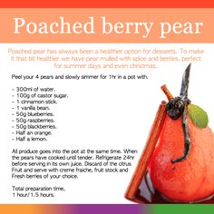 We created a bunch of recipes that could help folks with fibromyalgia. Try this with a Conference pear for best results. Full of berry goodness and pear vitamins, a wise choice from all the creams and sugars!