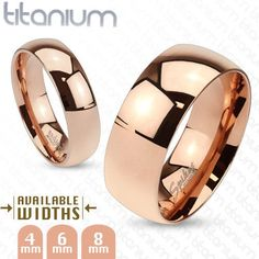 Titanium Rose Gold Ring,Wedding Band,4mm/6mm/8mm,Men's/Women's,Size 4.5-14(4384) #Spikes #Band