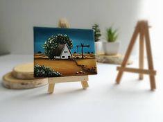MS_art / Pri studni je domček - miniatúrna maľba Fantasy, Imagination, Fantasia