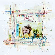 Scrapbook Page by Corrie Jones with the color green | GetItScrapped.com/blog