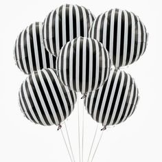 You are going to love these fun and colorfully striped Mylar balloons. Mix and match with your decor and colors of choice, these 18 inch round, vertically striped balloons are fantastic for birthdays,
