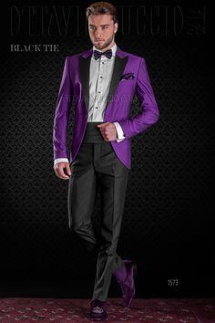 2017 Black Shawl Lapel Men Formal Green/Red/Royal Blue/Purple Suits With Pants Fashion Men Wedding Suits Groom Suit Prom Tuxedo Purple Prom Suit, Purple Tuxedo, Prom Tuxedo, Purple Suits, Purple Jacket, Purple Wedding, Wedding Men, Moda Masculina, Vestidos