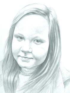 Sister, pencil drawing from photograph made by author, size A3