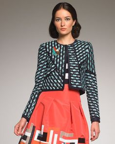 structured cropped boxy jacket -  neiman marcus