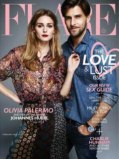 Olivia Palermo With Johannes Huebl For Flare Magazine