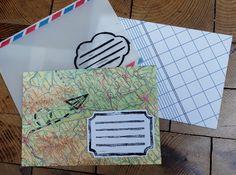 Upcycling: Briefumschläge aus Altpapier mit Linoldruck verschönern