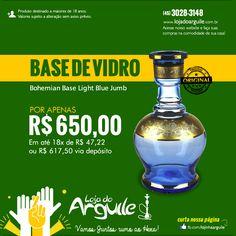Bohemian Base Light Blue Jumb DE R$ 680,00 / POR APENAS R$ 650,00 Em até 18x de R$ 47,22 ou R$ 617,50 via depósito Compre Online: http://www.lojadoarguile.com.br/bohemian-base-light-blue-jumb