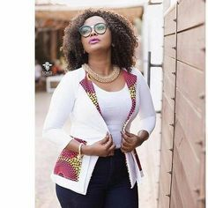 Classic african print ankara jackets for beautiful ladies, beautiful but simple ankara jacket styles with ankara print and designs African Tops, African Dresses For Women, African Print Dresses, African Fashion Dresses, African Attire, African Wear, African Women, African Prints, African Fabric