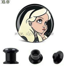 black acrylic screw plugs tunnel ear gauges piercings body jewerly 6 25mm sale in pair-in Body Jewelry from Jewelry on Aliexpress.com