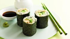 Brown rice sushi, chicken recipe, brought to you by Australian Women's Weekly