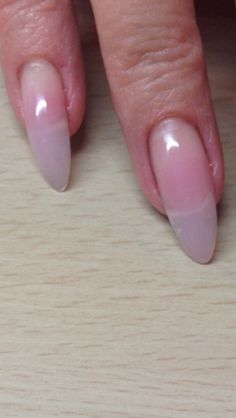 Real nails with gel overlay to keep them strong. Love the almond shape! my goal Overlay Nails, Gel Overlay, Gel Vs Shellac, Love Nails, Fun Nails, Opi Nail Envy, Fabulous Nails, Almond Nails, Mani Pedi
