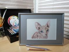Your place to buy and sell all things handmade Colored Pencil Artwork, Color Pencil Art, Colored Pencils, Caran D'ache, Pet Portraits, How To Draw Hands, Hand Painted, Etsy Shop, Colours
