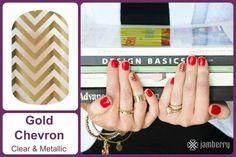GOLD CHEVRON Jamberry Nail Wraps  #GoldChevronJN www.debsjaminails.jamberrynails.net