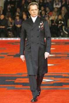 Gary Oldman walking Prada A/W 2012