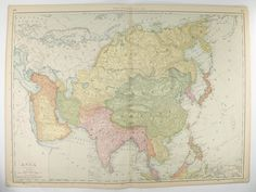Antique Map Iran Persia Map Afghanistan Pakistan Map - Japan map 1900