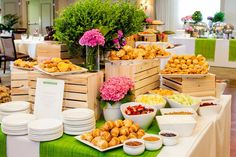 Excellent example of landscaping from Sweetie's Catering. Elevation and shapes create visual interest in the display