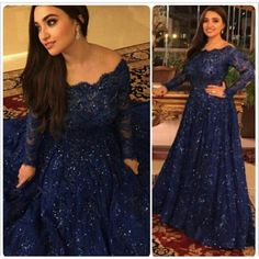 Find a Dark Navy Blue Lace Plus Size Prom Dress 2016 Boat Neck Sequined Long Sleeve Party Dresses For Women Plus Best Prom Gowns Online Shop For U !