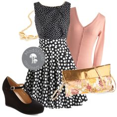 Mix polka dot patterns with soft neutrals for a cohesive ensemble!